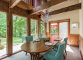 Dining Room has wonderful woodland views