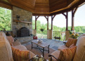 Loggia with Fireplace