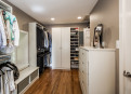 Well planned giant walk-in closet