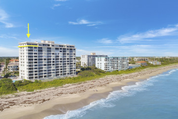 Home for Sale at 840 Ocean Drive #PH-A, Juno Beach FL 33408