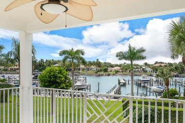 Home for Sale at 424 Bay Colony Drive N #WITH BOAT SLIP, Juno Beach FL 33408