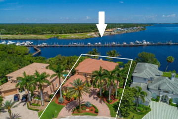 Home for Sale at 238 SW Palm Cove Drive, Palm City FL 34990