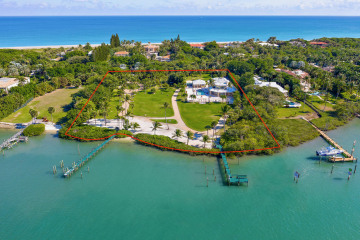 Home for Sale at 510 S Beach Road, Hobe Sound FL 33455