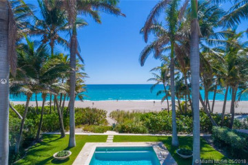 Home for Sale at 125 Ocean Blvd, Golden Beach FL 33160