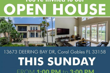 Home for Sale at 13673 Deering Bay Drive, Coral Gables FL 33158