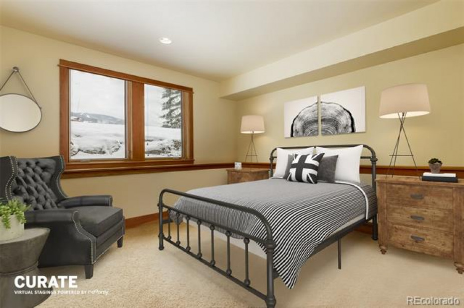 Virtual Staging- Lower Level Guest Bedroom