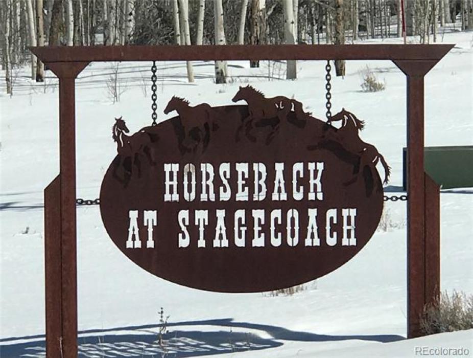 Entrance to Horseback Subdivision