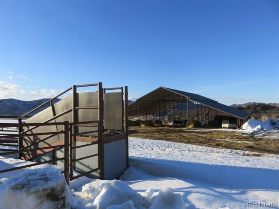 The ranch has new cattle working facilities