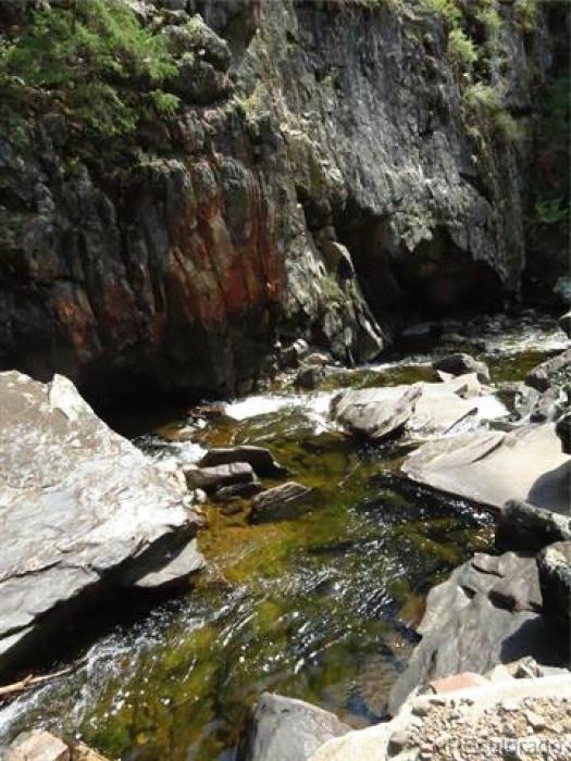 Big Creek has sliced it's way through the dramatic Big Creek canyon.