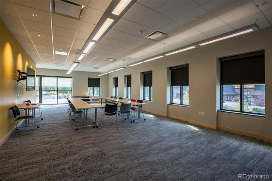 The Community Room is designed to accommodate 49 people.