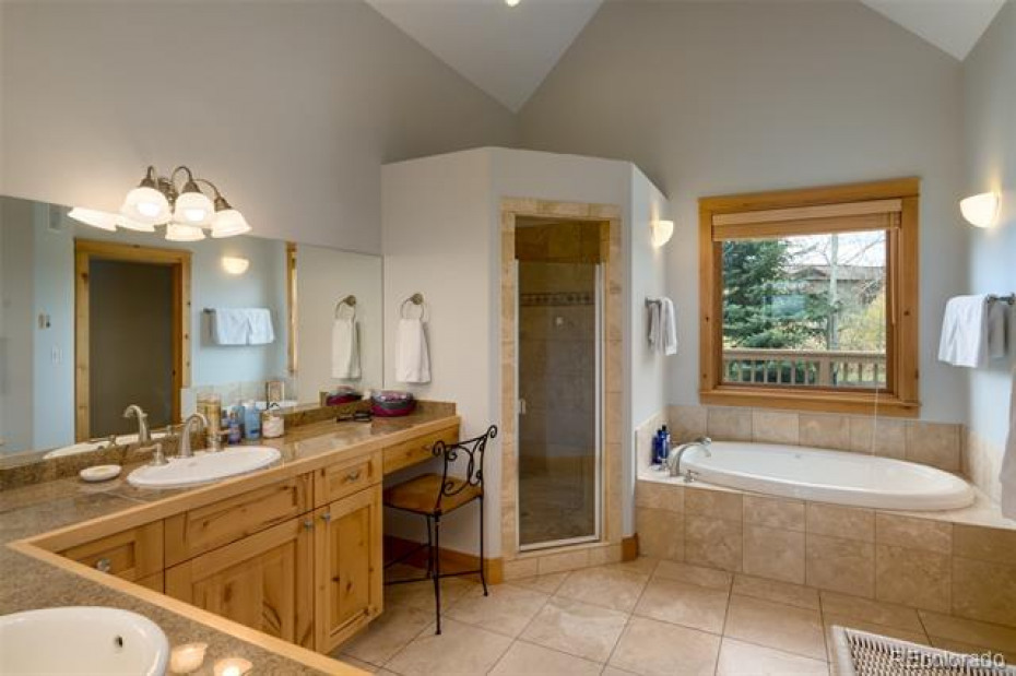 Master with ensuite master bath and huge walk in closet