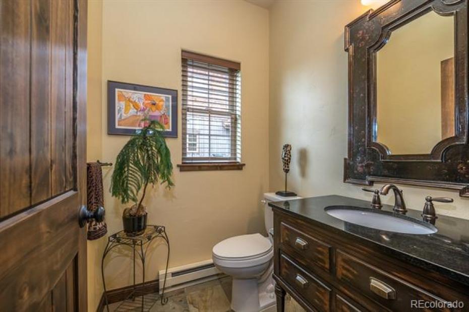 Powder bathroom on main level