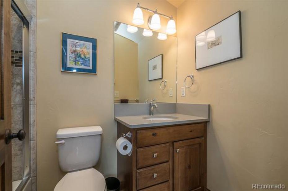 2nd full bathroom on upper level