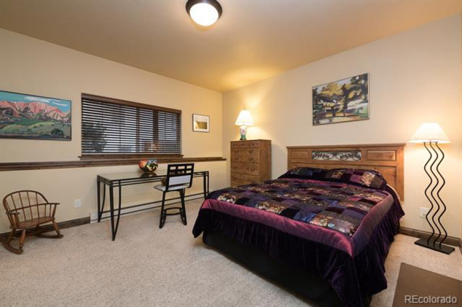 Spacious lower level bedroom