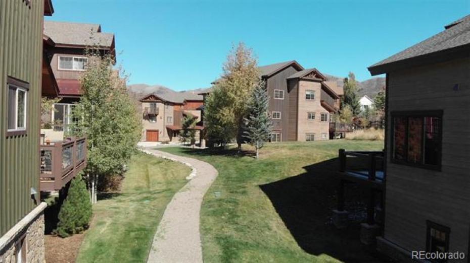 Rocky Peak Village with ski area as back-drop