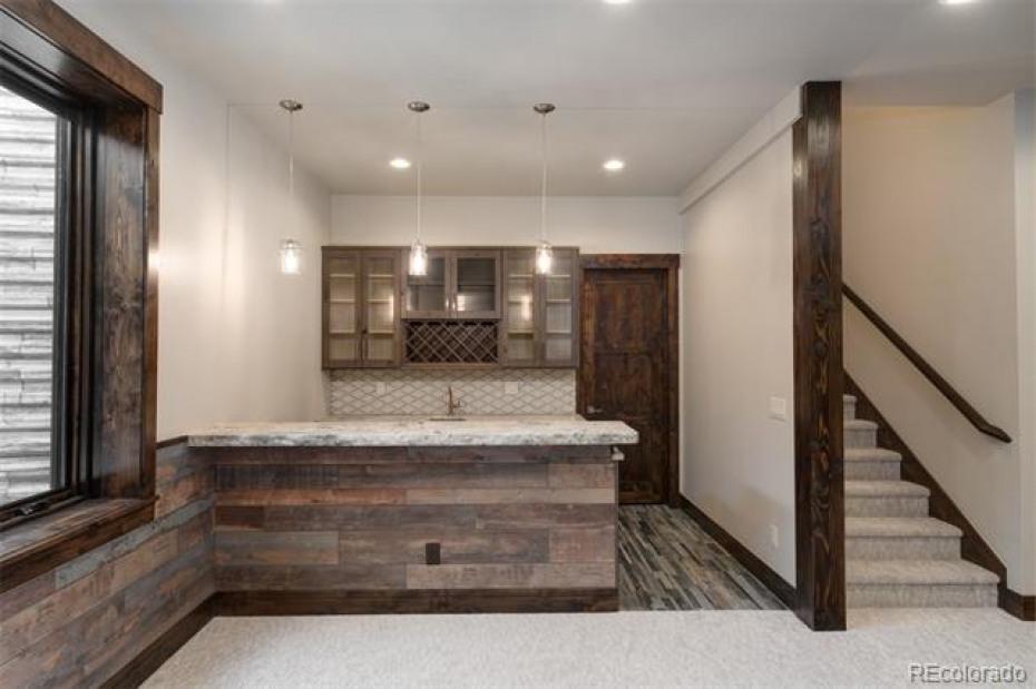 Rec room bar area.