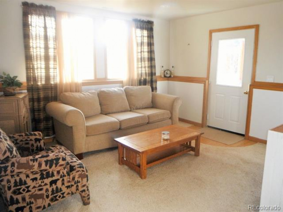Bonus living area in lower level with private entrance walkout door and fireplace.