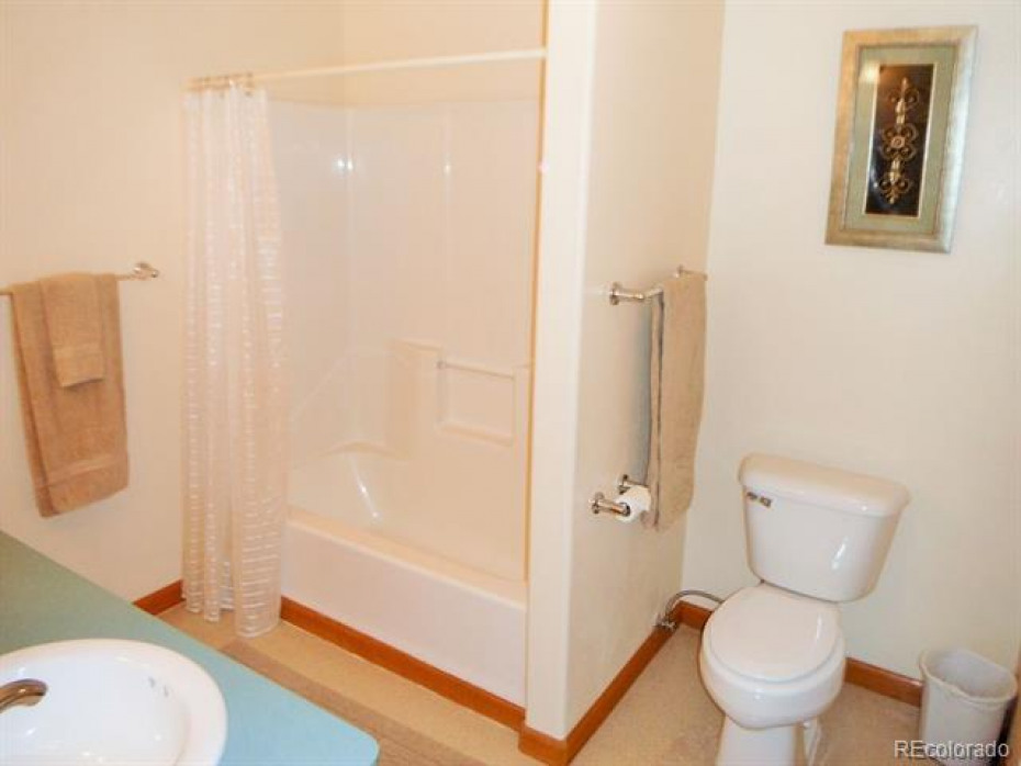 Bath in lower level provides bedroom #4 and #5 with easy access to a full bath on there level.  There is even additional storage access in the room as well  to utilize the space under the stairs.