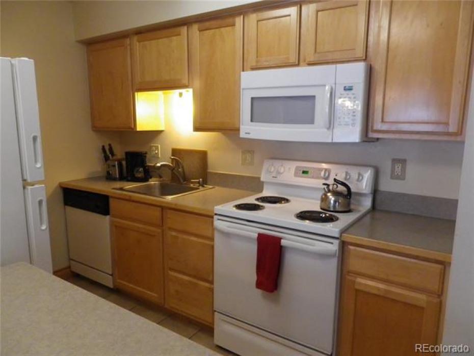 Kitchen with plenty of cabinet storage