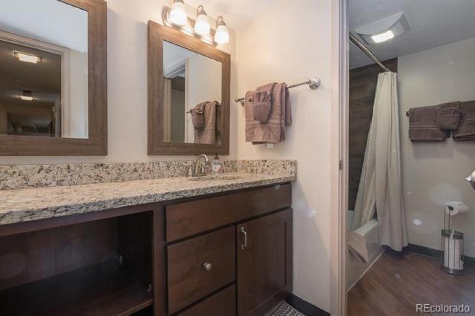 Upstairs bathroom between loft bedroom and bonus room (currently setup as bedroom)