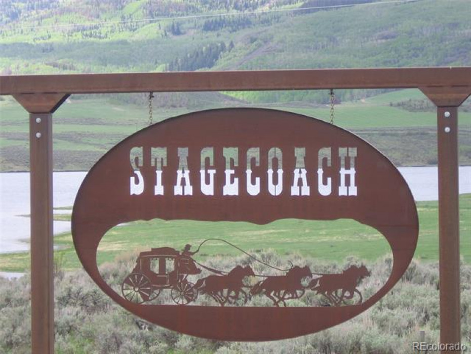 Entering Stagecoach sign
