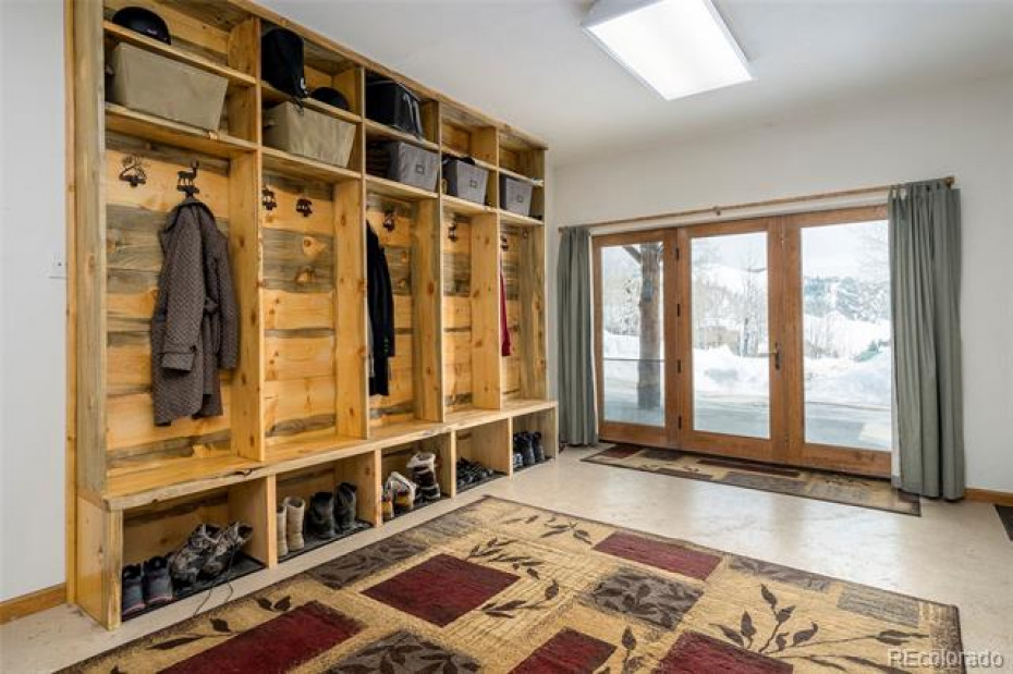 Mudroom with custom built storage