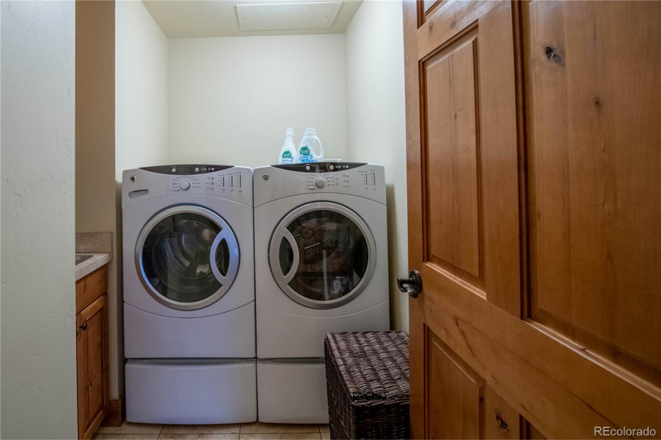 In unit laundry room