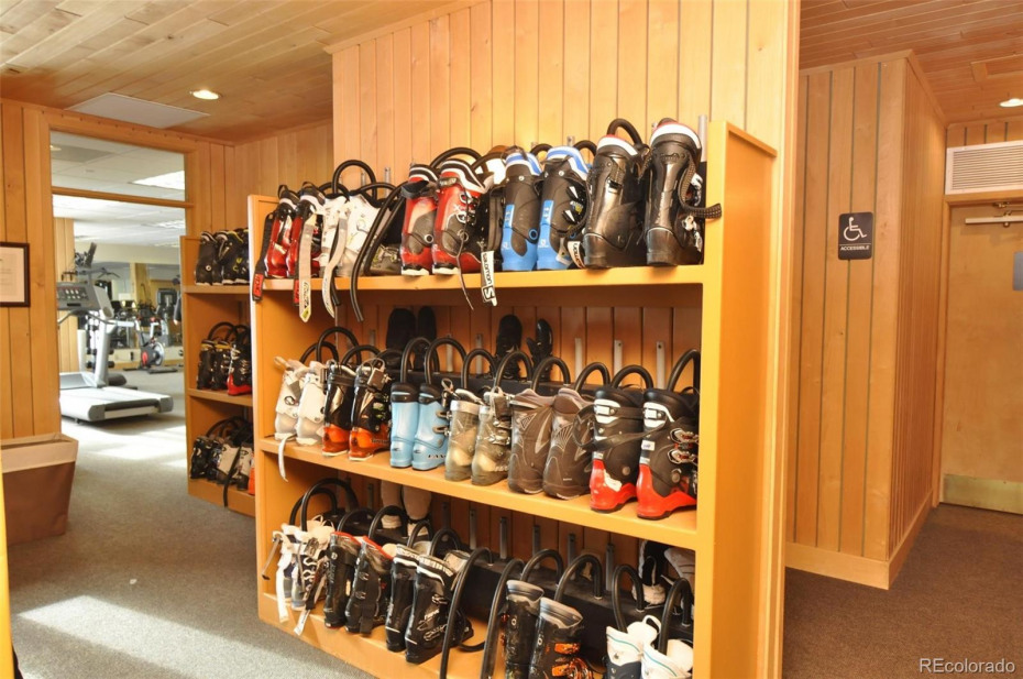 The ultimate in comfort - warm and dry ski boots to step into in the morning!