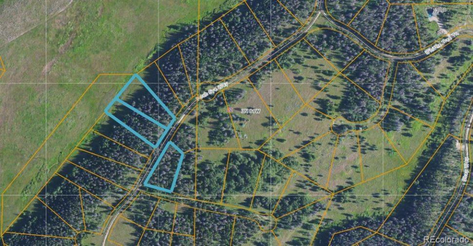 All three individual lots outlined from Routt County Assessor's office