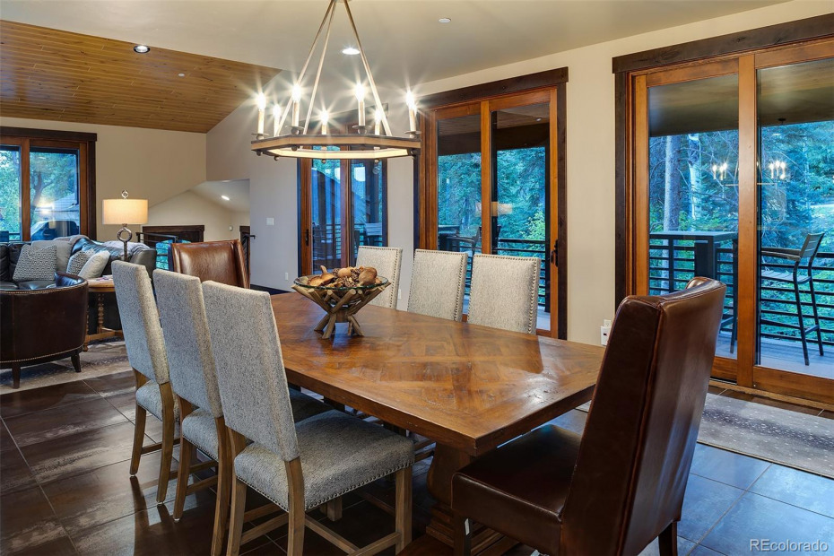 Dining Room with Forest View