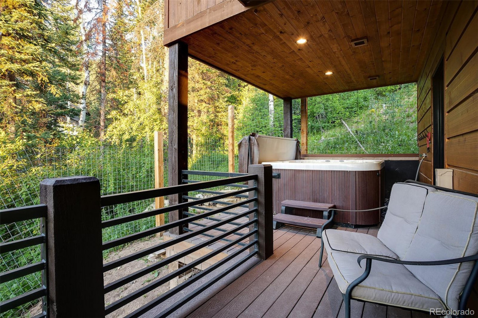 Private Balcony of Master Suite with Hot Tub