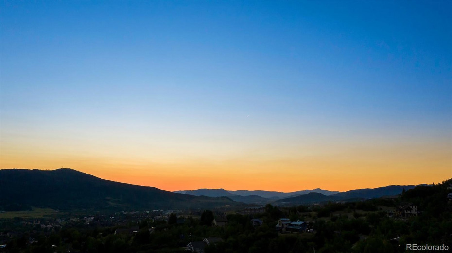 Sunset in Steamboat