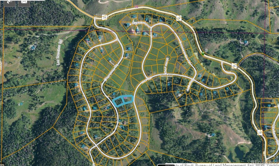 Showing Lot 182 Ute Trail, and adjoining Lot 162 (mls 4256584) totaling 1.25 acres!