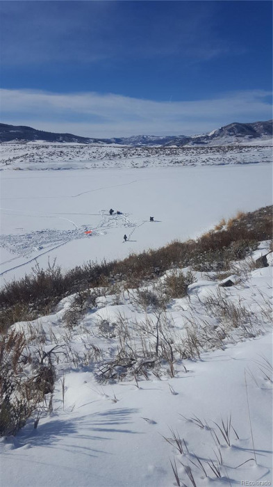 Ice fishing in winter and other winter fun.