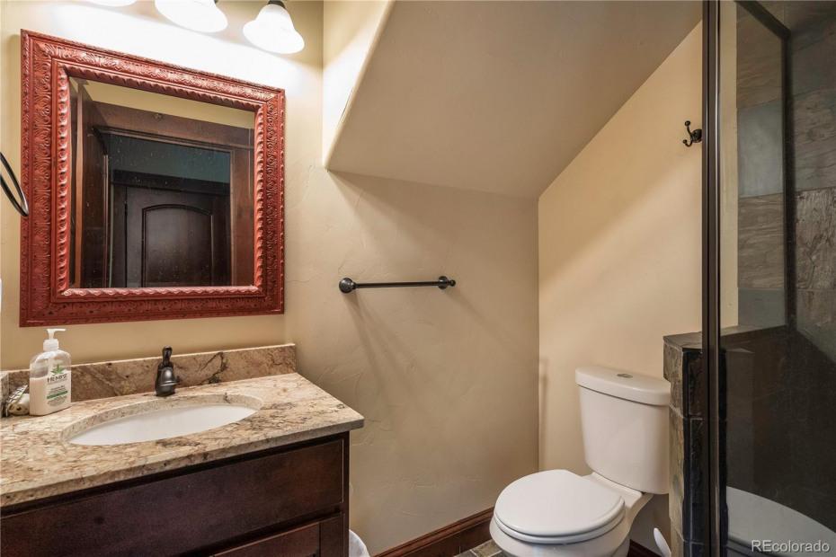 Ground level bathroom.