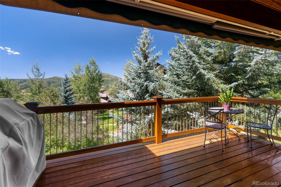Beautiful Deck off of Living/Dining Rooms with Views of Emerald Mountain