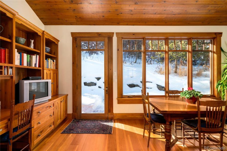 Sunny Kitchen Overlooks Patio