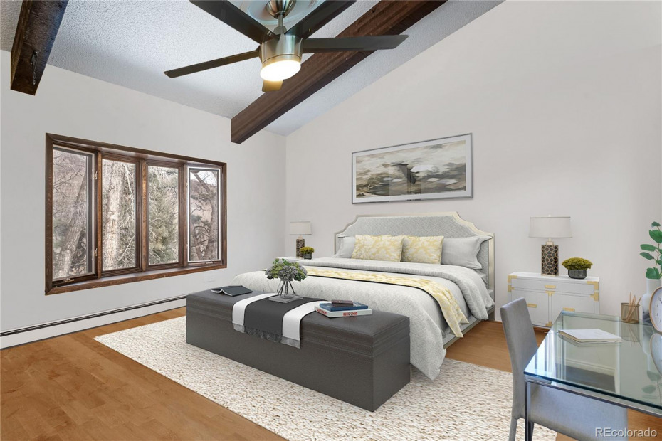 Master bedroom - virtually enhanced