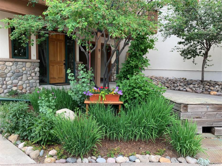 Create a nice garden in front in summer.