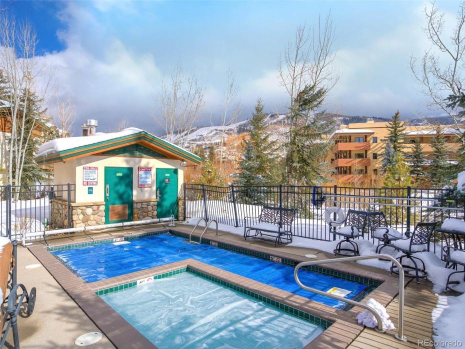 Enjoy a soak in the hot tub or dip in the pool.