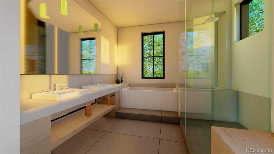 Master Bathroom. Renderings are general representation for marketing purposes only and subject to change.