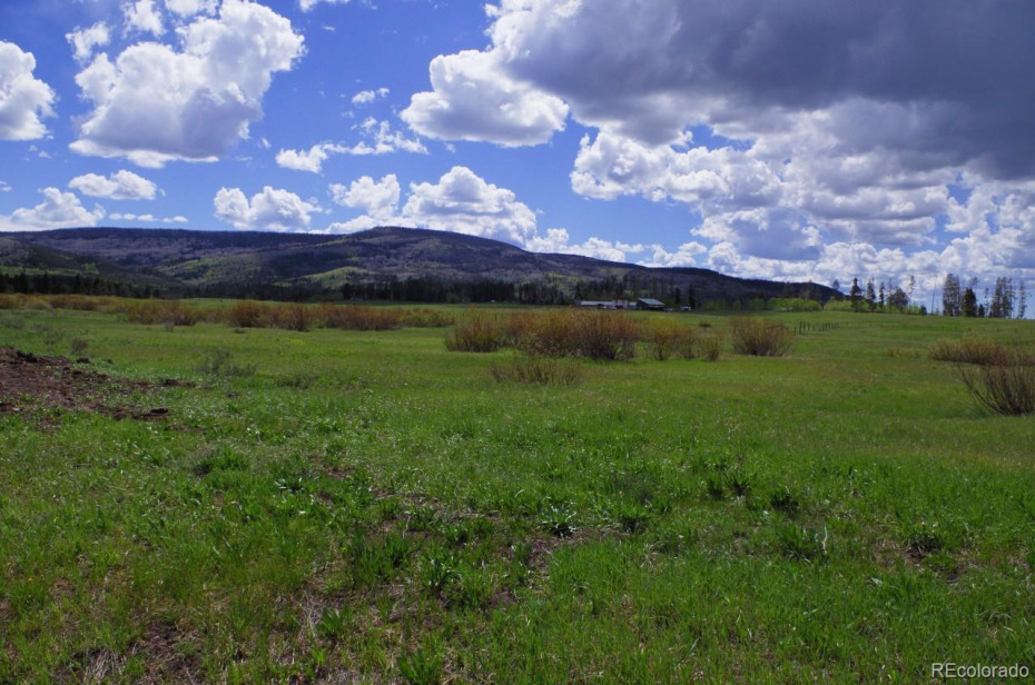 View of open space from the lot.