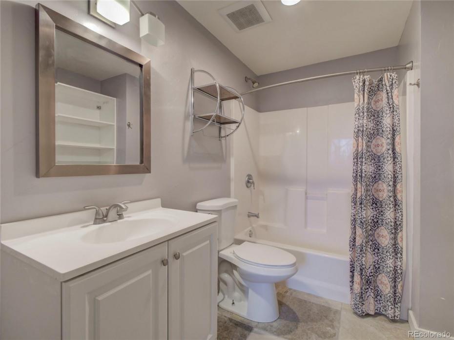 Lower level full bathroom, off bedroom