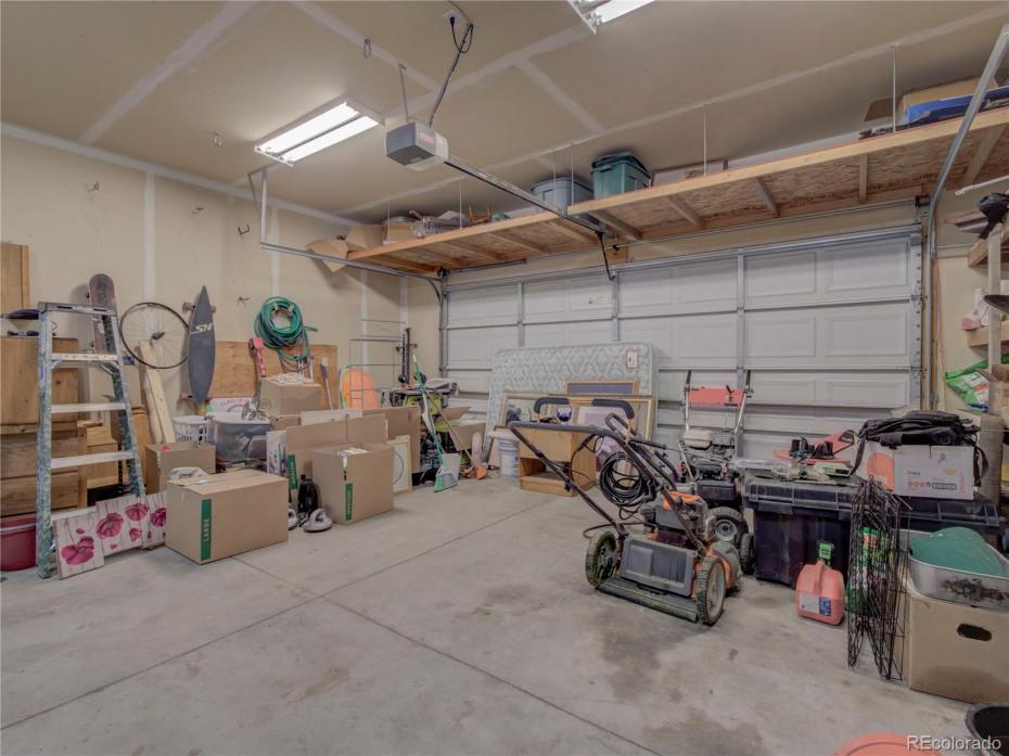 2 car garage with built-in storage.