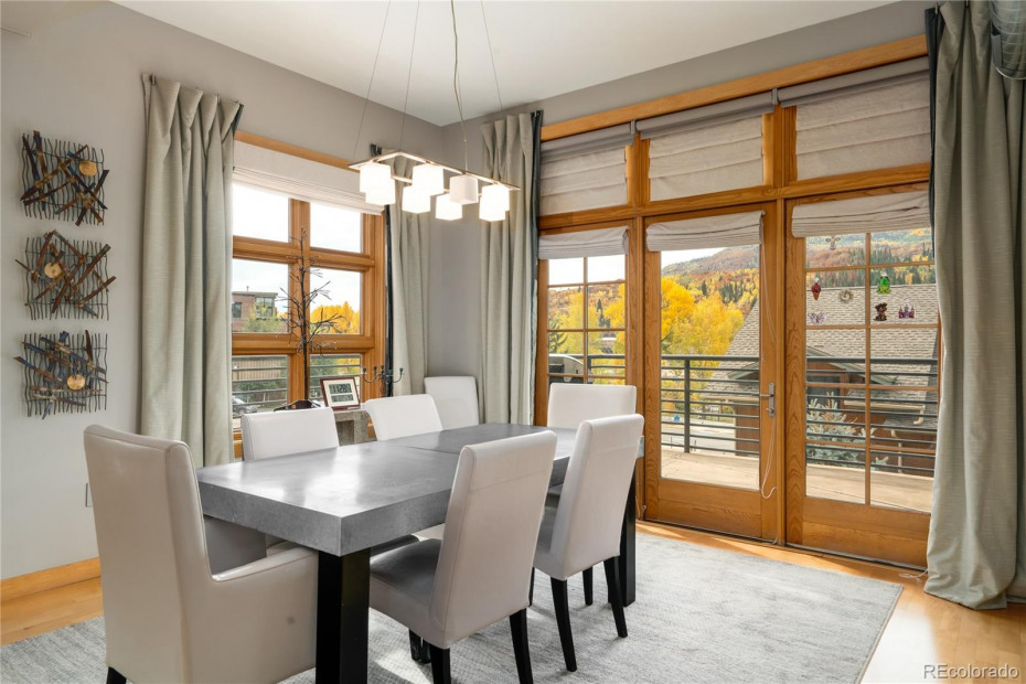 Walls of windows and ample natural light