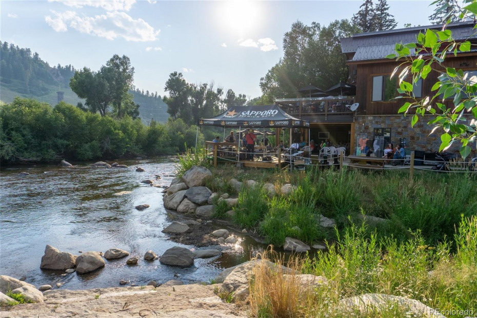 Dining riverside in Downtown Steamboat
