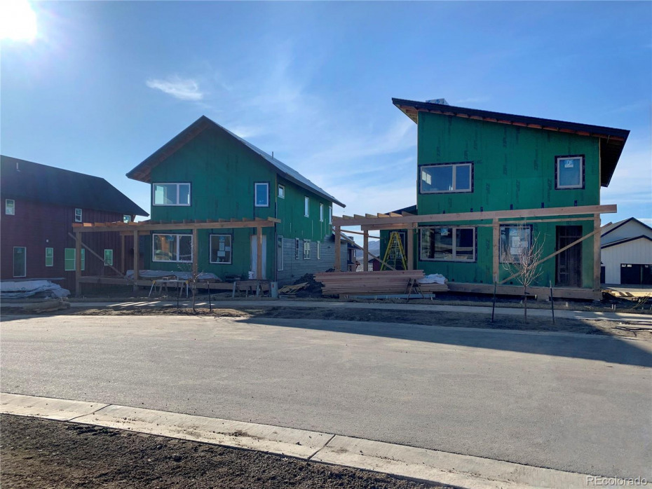 House on the left on April 8, 2020