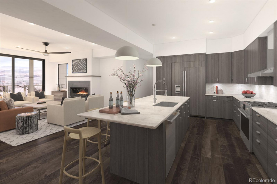 Interior Rendering with Mountain Modern Finish Package