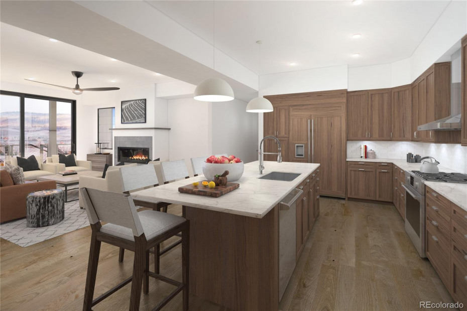 Interior Rendering with Rustic Chic Finish Package