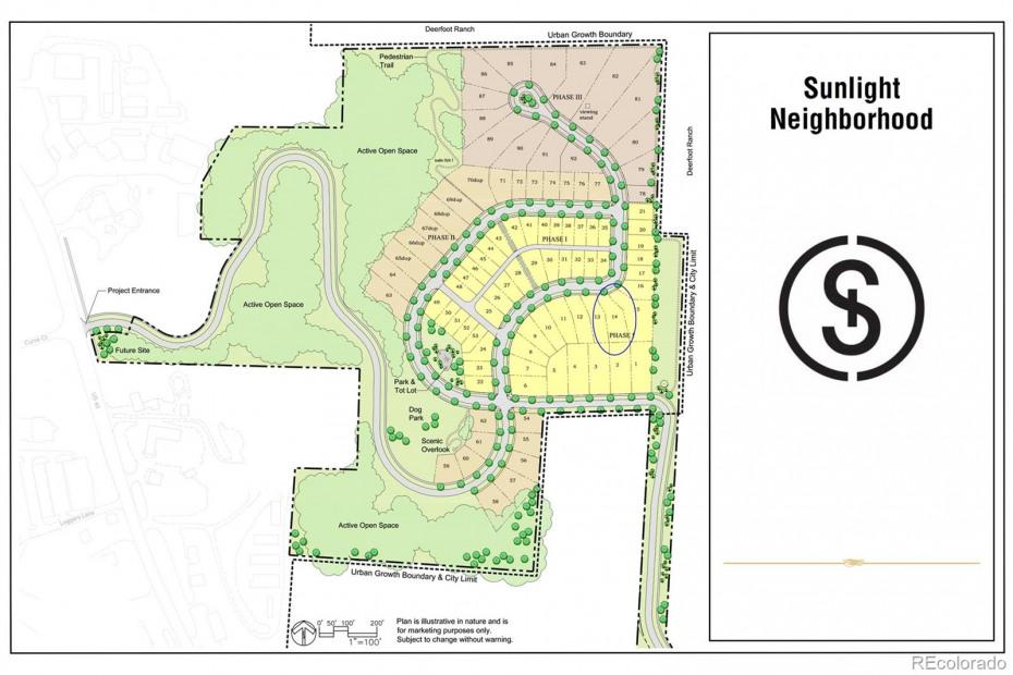 Lot 14 location on full site plan